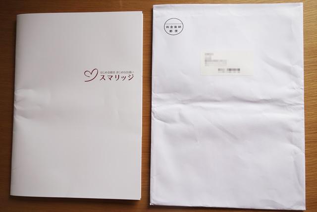 スマリッジからの送付書類表面